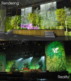 Young Living stage concept to creation