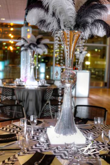 feather centerpieces for wedding