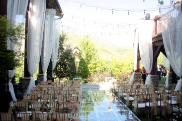 wedding seating and drape