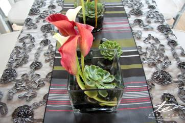 wedding succulent flower table centerpiece