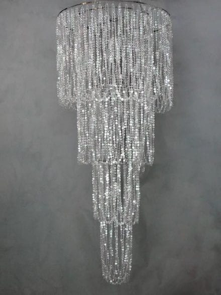 4 Tier Crystal Chandelier rental