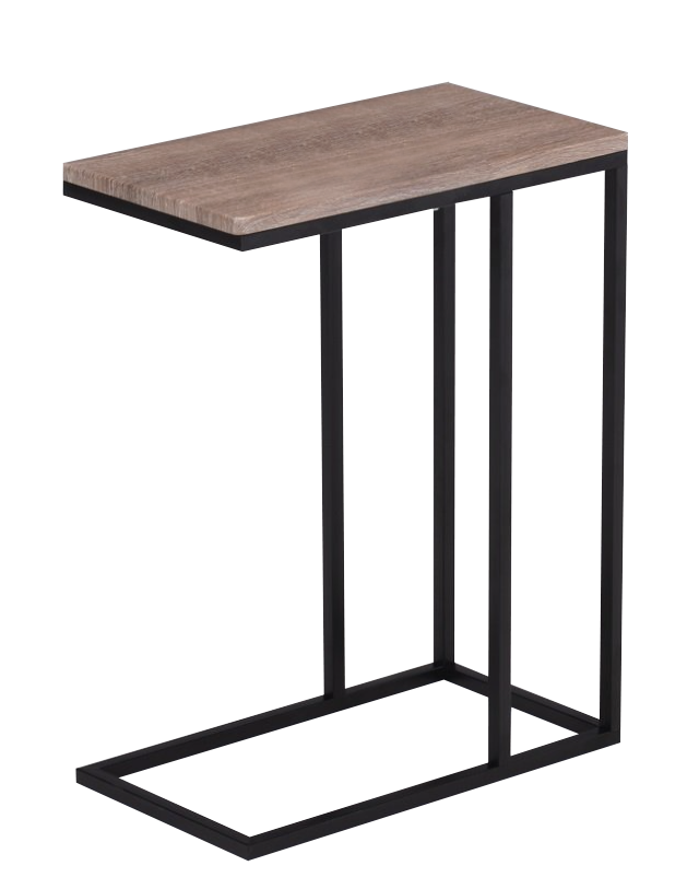 Wood c side table event rentals
