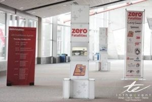 Zero Fatalities Trade Show trade show Trade Show Tips For Success Event Graphics Utah Hallway Signage Convention 300x202