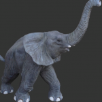 Baby Elephant plastic decoration