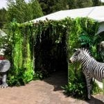 zebra and elephant decorations