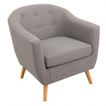 Light Grey Linen Accent Chair | Party Furniture