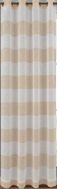 Sheer Linen Striped Curtain
