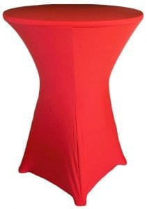 Spandex Red HiBoy Table Cover