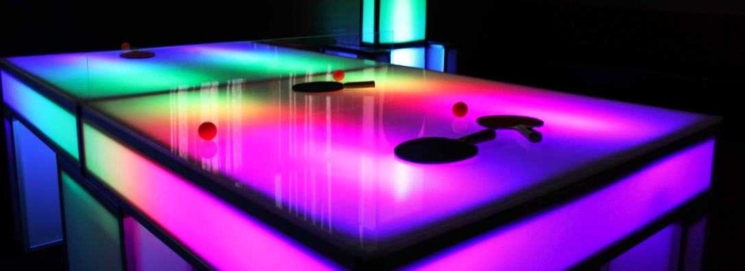light up ping pong table for sale