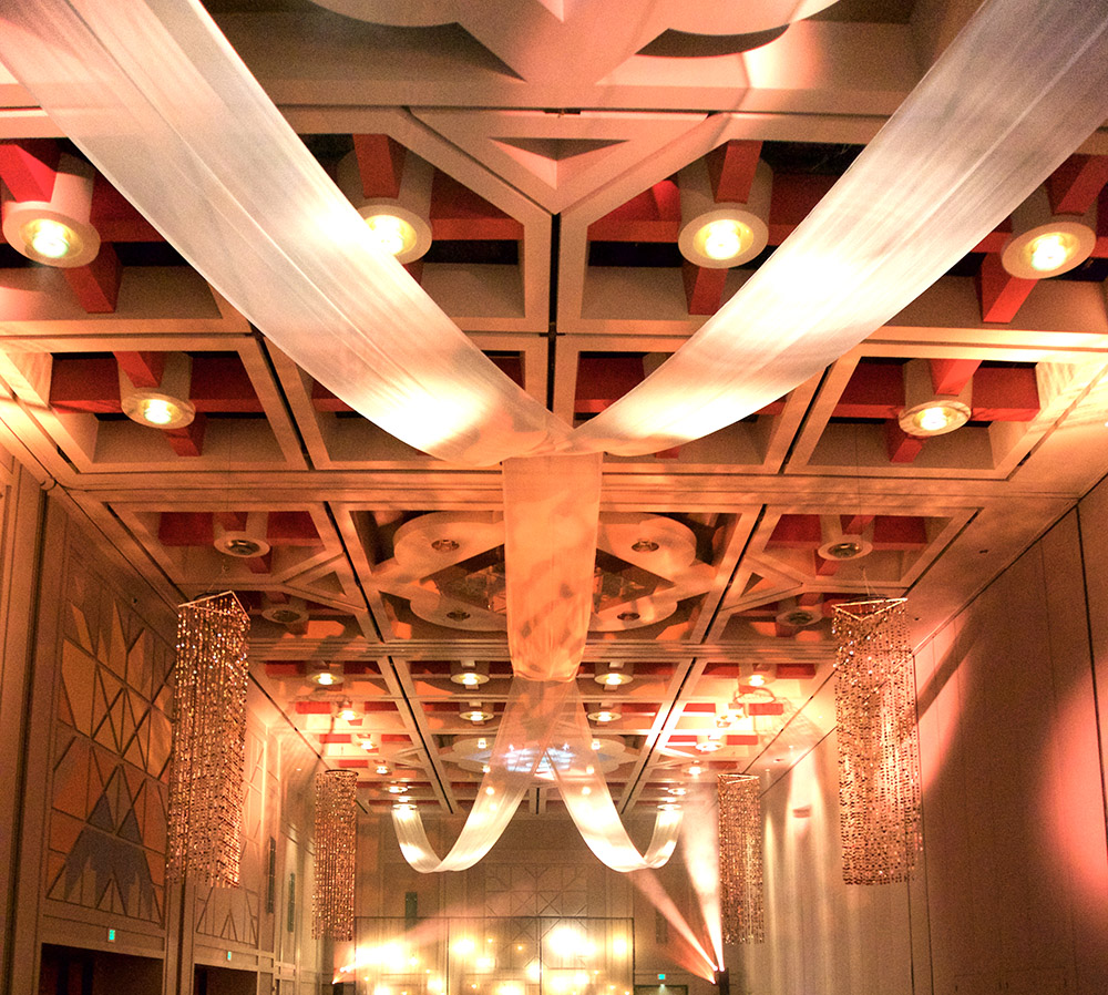 Event Planning | Ceiling Drapes
