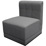 Event Furniture Rental | Grey Chair / Straight (side)