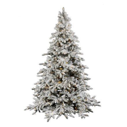 Holiday Decor Rentals | Lit Flocked Tree