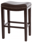 In The Event | Brown Leather Barstools