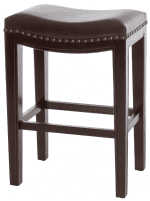 Event Rentals | Brown Leather Barstools