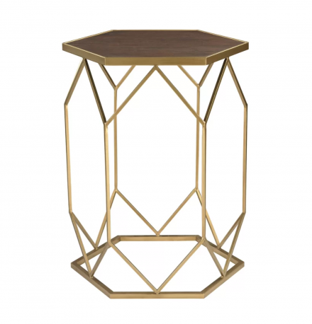 Gold Geometric Side Table In The Event rentals