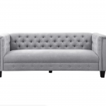 Grey Tufted Sofa In The Event Rental Utah