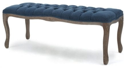 blue tufted Bench In the event furniture rentals utah