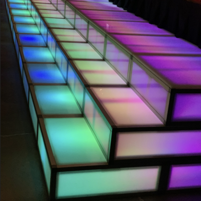 LED stairs squared