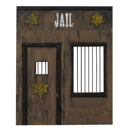 brown jail facade